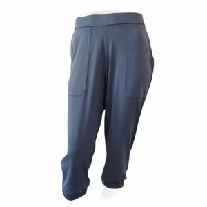 Lisa Rinna Collection Blue Cropped Joggers